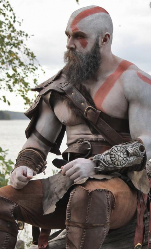 Kratos cosplay character