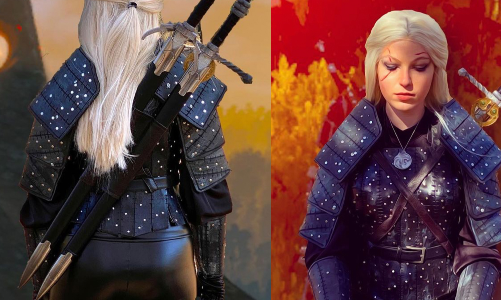 geralt of rivia cosplay erin